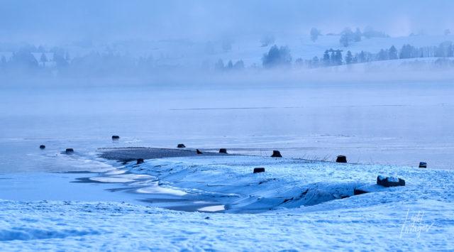 Forggensee im Winternebel